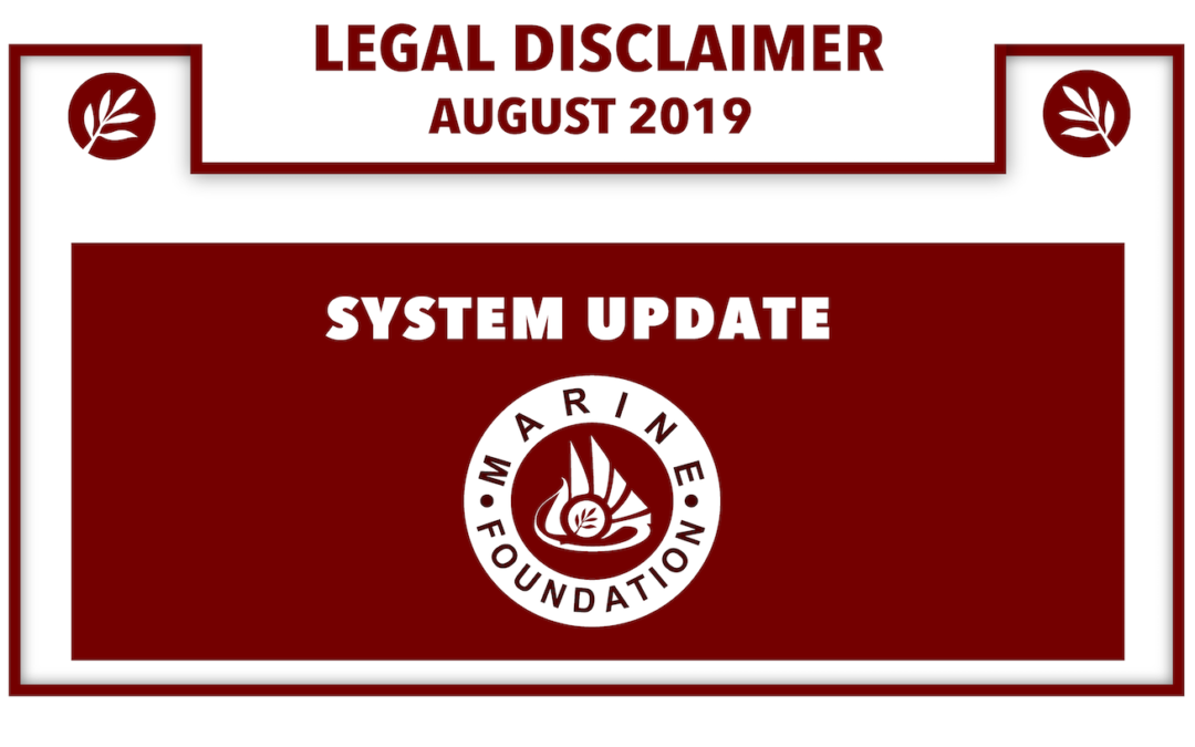 System Update August 2019